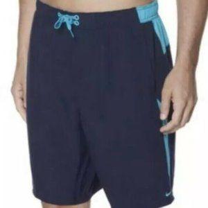 Nike Navy Blue Swim Trunks